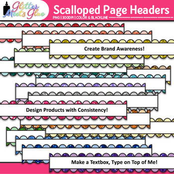 Scalloped Page Headers Clip Art {Design PowerPoint Present