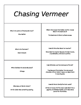 """Page Turners/Book Battles for """"Chasing Vermeer"""" and """"The W"""