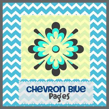 Pages - CHEVRON BLUE - Newsletter Template - Create on iPa
