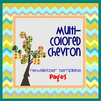 Pages - CHEVRON MultiColored - Newsletter - Create on iPad