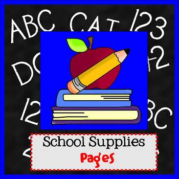 Pages - SCHOOL SUPPLIES theme - Newsletter Template - For