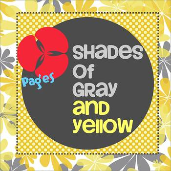 Pages - SHADES OF GRAY AND YELLOW - Newsletter - For iPads