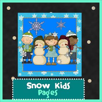 Pages - SNOW KIDS theme - Newsletter Template - For iPads,