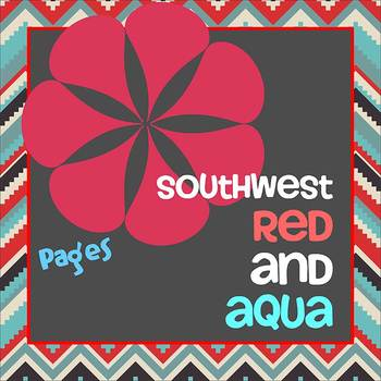 Pages - SOUTHWEST RED AND AQUA - Newsletter - For iPads, i