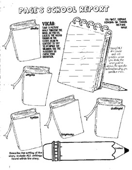 Page's School Report Guided Reading Packet