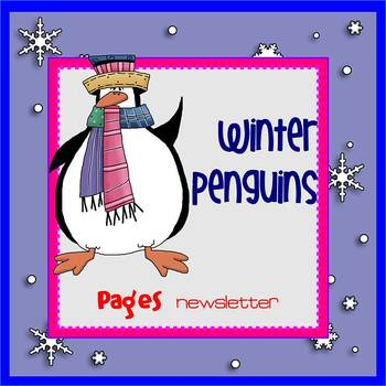 Pages - WINTER PENGUINS theme - Newsletter Template - For
