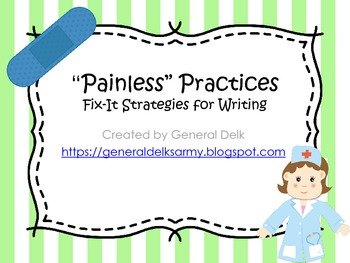 Painless Practices- Fix-it strategies for writing