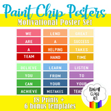 Paint Chip Motivational Poster Set, 8.5x11 in., 18 posters