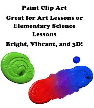 Paint Clip Art - Primary Colors, Secondary Colors, and Mixing