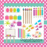 Paint Party, School Supplies clipart