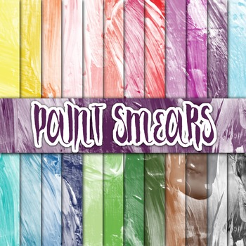 Paint Smears Textures - Digital Paper Pack - 24 Different