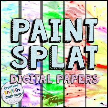 Paint Splat Digital Paper Backgrounds