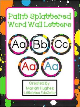 Paint Splattered Rock and Roll inspired Word Wall Letters