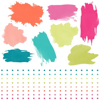 Paint Strokes And Borders Clipart, Paint, Strokes, Borders