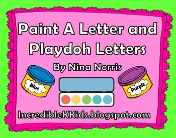 Paint a Letter and Playdoh Letter Mats