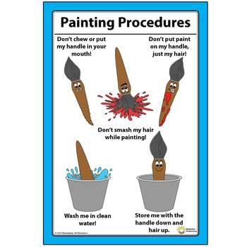 """12"""" x 18"""" Paintbrush Painting Procedures How To Clean And"""