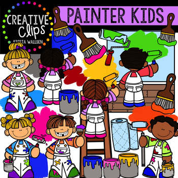 Painter Kids Clipart {Creative Clips Clipart}