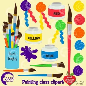 Clipart, Painting Class Clipart, Art Class Clip art, AMB-318