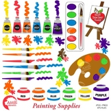 Clipart, Painting Supplies Clipart, ART CLASS Clipart, Cli