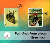 Paintings from Pieces Montessori Art Cards
