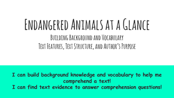 Paired Passage Essay Prep: Endangered Animals Session 1