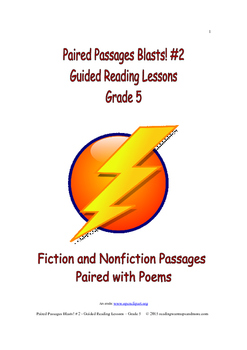 Paired Passages Blasts! #2 - Guided Reading Lessons - Grade 5