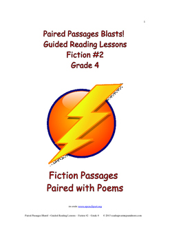 Paired Passages Blasts! Guided Reading Lessons - Fiction #