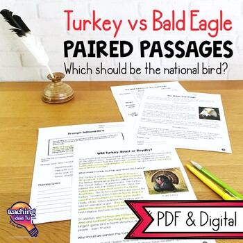 Paired Passages National Bird Wild Turkey vs Bald Eagle Te
