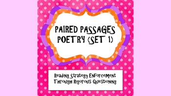 Reading Strategies/Close Reading Paired Passages: Poetry P