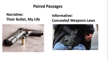 """Paired Passages:  """"Their Bullet, My Life"""" and """"Concealed W"""