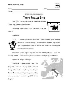 Paired Text Pizza Immigrants Deli