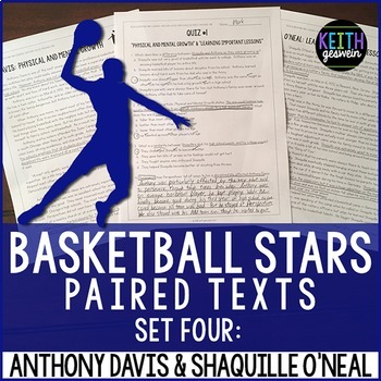 Basketball Paired Texts: Anthony Davis and Shaquille O'Nea