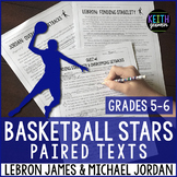 Paired Texts:  NBA Legends LeBron James & Michael Jordan: