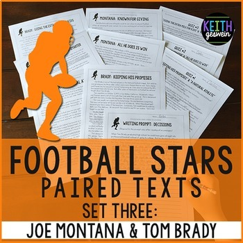 Football Paired Texts: Tom Brady and Joe Montana: Nonficti