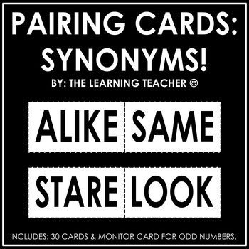 Pairing Cards: Synonyms