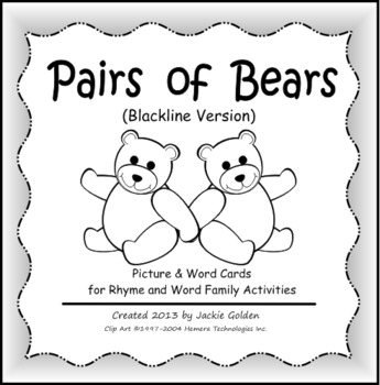 Pairs of Bears: Picture & Word Cards for Rhyme & Word Fami