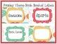 Paisley Theme Customizable Book Basket Labels