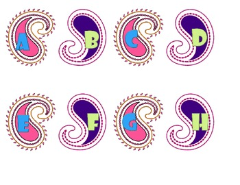 Paisley Word Wall Letters