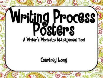 Paisley Writing Process Poster and Management System with