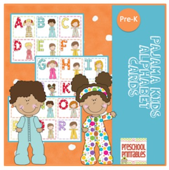Pajama Kids Alphabet Cards