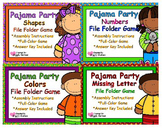 Pajama Party Basic Skills File Folder Game Set