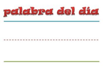 Palabra del dia Poster (SPANISH)