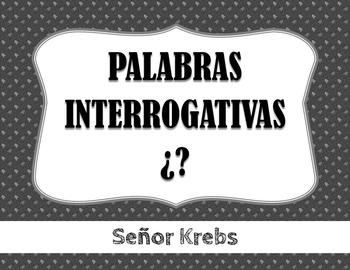 Palabras Interrogativas en Español / Spanish Interrogative