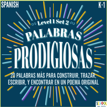 Palabras Prodigiosas Level 1 Set 2 ~ Spanish Sight Word Wo