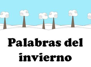 Palabras del Invierno PowerPoint