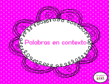 Palabras en contexto & Context Clues in spanish