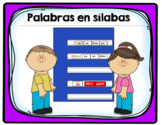 Syllables and Words- Palabras en sílabas
