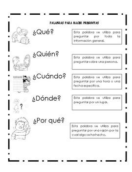 Palabras para hacer preguntas
