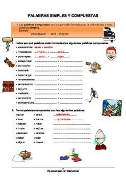Palabras simples y compuestas en español