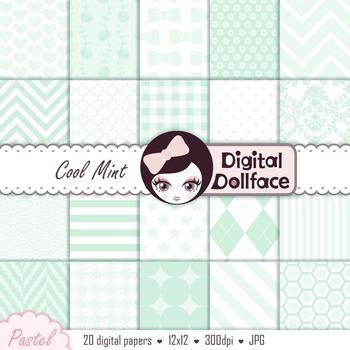 Digital Paper - Pale Mint Green
